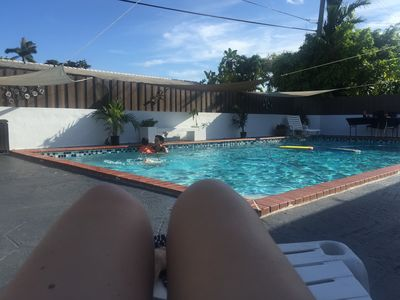 Family vacations. Pool house.