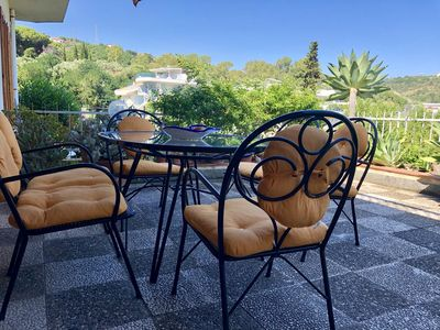 Photo for Casa Nunziatino, a delightful house with a sea-view terrace 150 meters from the beach