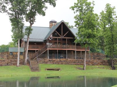 Photo for Stunning Gated Log Lodge, 15 Min from Bentonville & Crystal Bridges Museum