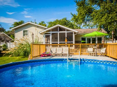 Photo for Private pool, screened porch, fire pit, walk to downtown, walk to the beach