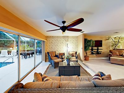 2nd Living Room - Open the sliding glass doors and dive into your private pool.