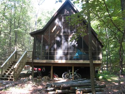 "Photo for Rustic ""a-frame"" With Enormous Screen Porch - Coolfont Mountainside"