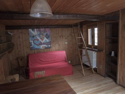 Photo for Attic studio in Bardonecchia, rustic and welcoming
