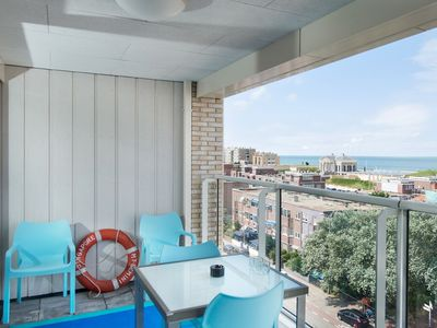 Photo for Apartment in the centre of Scheveningen, 200 m from the beach with seaview