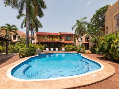 Photo for SUMMER SPECIAL PRICE. 3 bdrm house with private pool in Playacar Phase 2