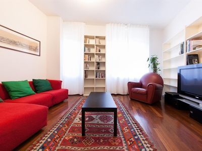 Photo for Apartment 681 m from the center of Lucca with Internet, Air conditioning, Parking, Washing machine (404878)
