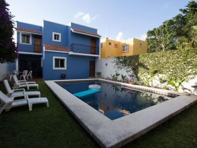 Photo for Giant Pool & Garden, Quiet Street, Rustic Mexican