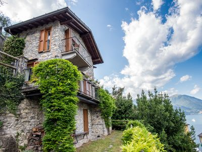 Photo for Romantic Lake Como Cottage with Breathtaking 180-degree Lake View