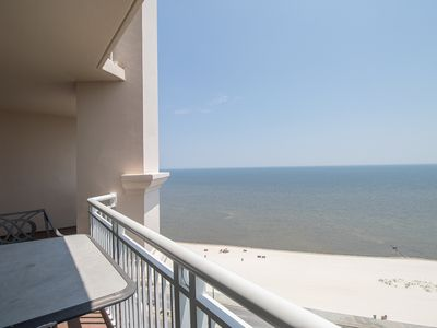 Photo for Oversized Balcony Condo w/ WiFi, Beach Views & Resort Pool Access