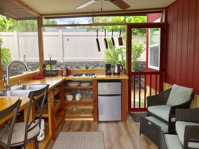 Photo for Authentic Tiny House on Wheels  - Walk to Magic Sands Beach!