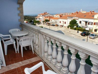 Photo for Two bedroom apartment with terrace and sea view Vrsar (Poreč)