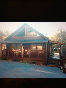 Photo for Jan-Apr $100/night. 2 Bedroom Cabin 1/2 Mile From Parkway. Ht -Indoor Pool
