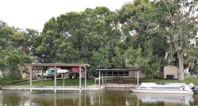 Photo for NEW LISTING! Charming Waterfront- Carport, Lake O Access, Covered Boat Docking