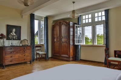 Room Chausey, panoramic view onto the garden
