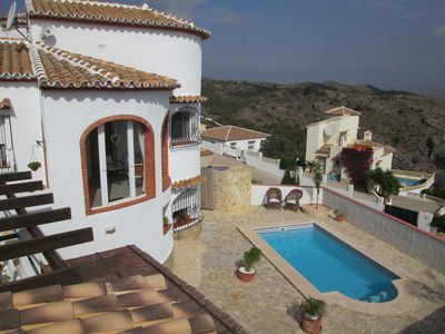 Photo for Private pool, sea views, garden, outdoor kitchen - and now with air conditioning!