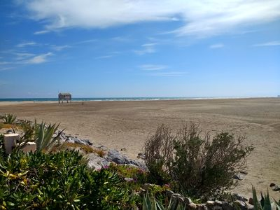 Photo for Sea and mountain view apartment 4 people on the beach in Gruissan les Ayguades