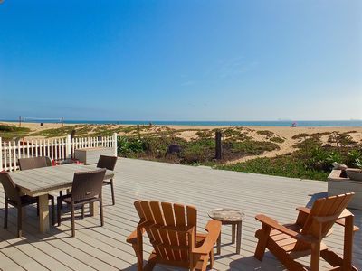 Photo for Directly on the Sand - Beachfront Home in Sunset Beach CA