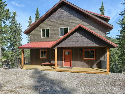 Photo for New Unique Cabin Close to Terry Peak w 600 Sq. Ft. of Deck Space, Great Views