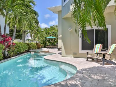 Photo for Dragonfly Breeze - Private Home w/ Heated Pool, Free Wifi, Short Walk to Beach
