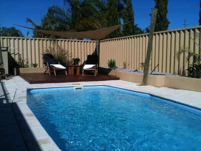 Sparkling pool for those hot summer days