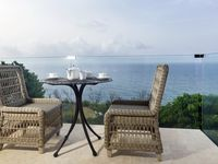 The apartment is very well equipped , modern with tremendous sea views , i