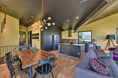 This brand new vacation rental house boasts an interior to match the views.
