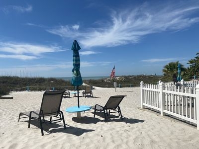Ground floor direct beachfront! The beach is your back yard!!