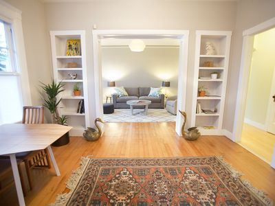 Photo for Stylish Garden Flat in Quiet Family-Friendly Neighborhood, Newly Renovated