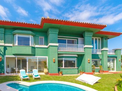 Photo for Front line beach villa located on the outskirts of Marbella