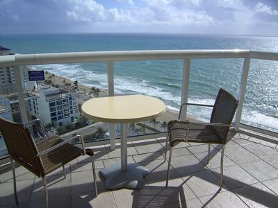 Photo for Located in QClub Ft Lauderdale Beach Resort- Stunning Views Wrap Around Balcony