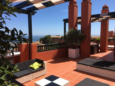 Photo for Penthouse, Fabulous 3 bed with large terrace and spectacular views of the coast