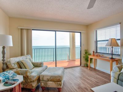 Photo for Top floor beachfront condo.  Incredibly Spacious.  Overlooking the best beach in Florida!