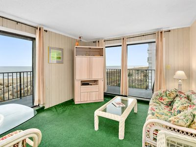 Photo for Ocean Front 2 Bedroom in Camelot with Tennis Court & Outdoor Pool!
