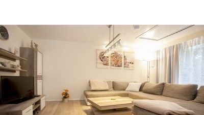 Photo for Cozy apartment with communal pool next to the ski area