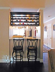 Wine bar from the living room side