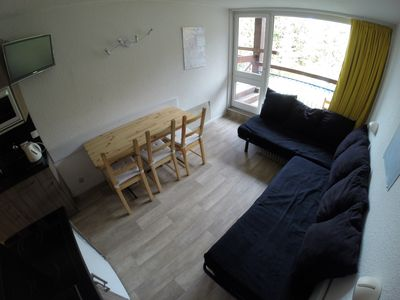 Photo for Arc 1800 - Studio with balcony to the slopes for 5/6 people.
