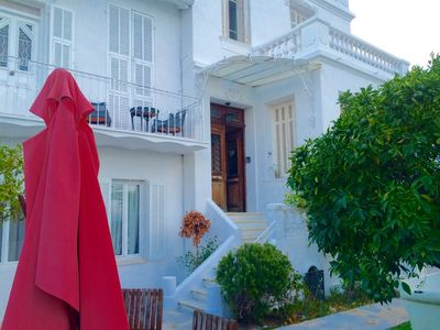 Photo for Villa Golfe Juan, access beach walk and roof seen panoramic