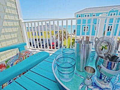 Photo for Casual, Beachy, oceanview condo central to the Carolina Beach boardwalk and Freeman Park!