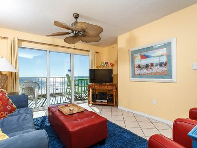 Photo for Gulf Dunes 316: Beautiful beach front condo, tennis, pool, FREE beach chairs