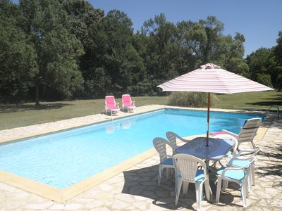 Swimming Pool (12m x 6m with alarm) on sunny terrace enjoying total privacy.