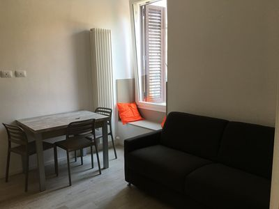 Photo for Apartment for 4 people with wifi (fiber 1000), bed, sofa bed and shower