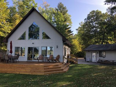 Photo for 3 Bed 3 Bath Cabin & Guest Cabin on Gull Lake Chain Across from Golf Course!