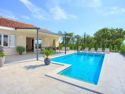 Photo for Holiday home in Vrh, Island Krk, Croatia  with private pool for 8 persons