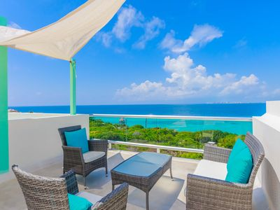 Photo for Stunning views! Family friendly Rooftop terrace Private pool Serene Punta Sur