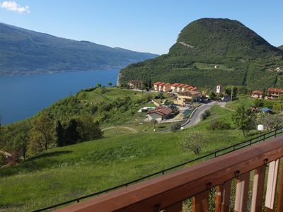Photo for Lake Garda - Holiday apartment with pool and stunning unobstructed lake view