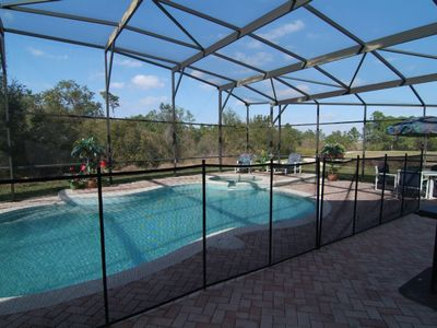 Pool with Child Safety Fence/ Pool Door Alarms & Beautiful 4Bed/3 bath House- 3miles... - HomeAway Kissimmee pezcame.com