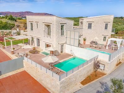 Photo for Villa Dimitra - Panoramic Views - Luxury stonebuilt with private heated pool