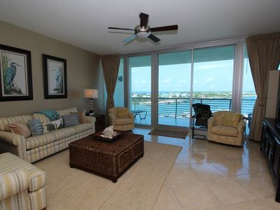 Photo for Bella Luna 708 - Westerly Bay view with Private Beach Across Street!