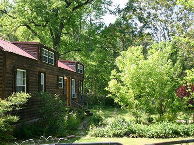Photo for Adorable  tiny house, private, woods view, Stream, edge of national forest