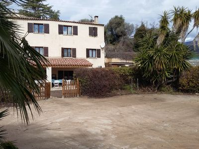 Photo for HOUSE FOOT IN THE WATER ideal family with children. direct access to the beach.